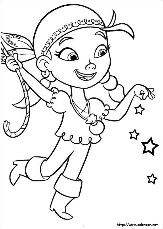 Coloriage Pirate fille disney dessin gratuit à imprimer