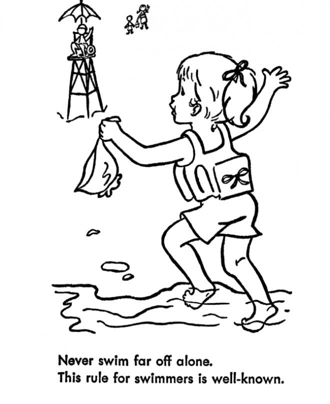 Coloriage Fille demande le secours dessin gratuit à imprimer