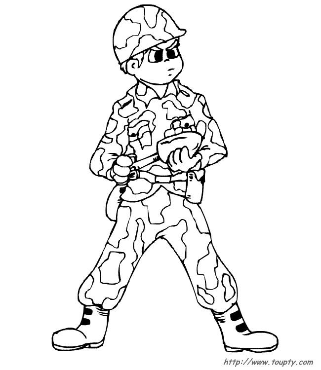 Coloriages De Soldats Les Personnages