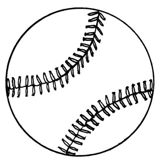 Coloriage Une Balle Baseball dessin gratuit à imprimer