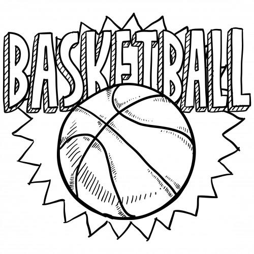 Coloriage Ballon de Basket sur ordinateur dessin gratuit à