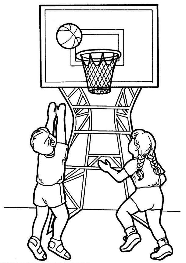 Coloriage Basketball pour enfant dessin gratuit à imprimer