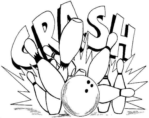 Coloriage Bowling en couleur dessin gratuit à imprimer