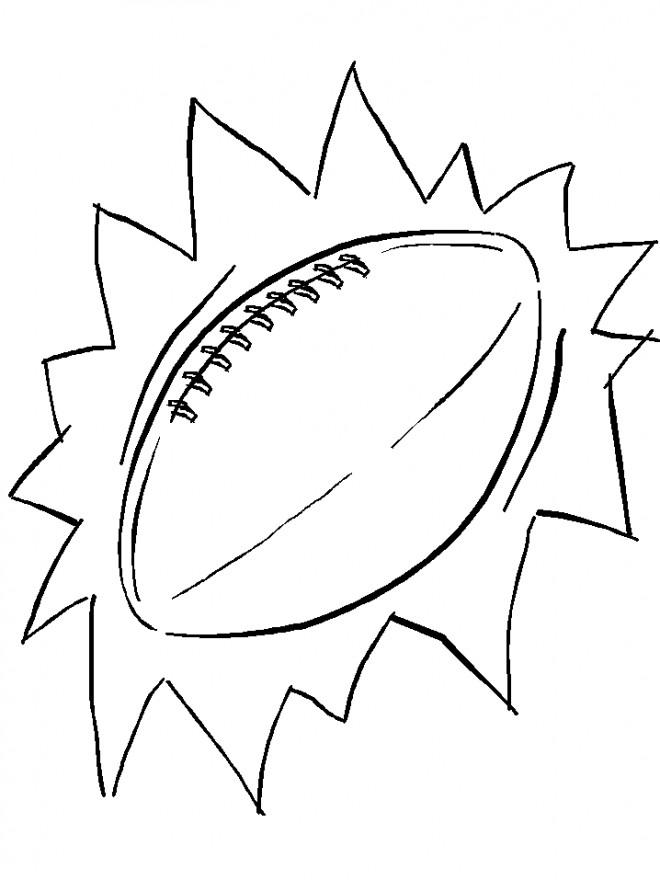 Coloriage Ballon Rugby couleur dessin gratuit à imprimer