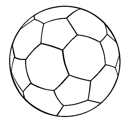Coloriage Football ballon couleur dessin gratuit à imprimer