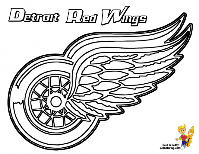 Coloriage Équipe de Hockey Detroit Red Wings