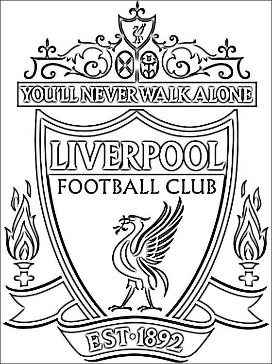 Coloriage Liverpool Premier League dessin gratuit à imprimer