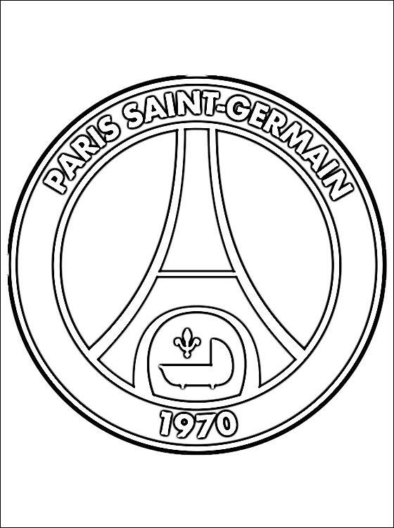 Coloriage Logo de Paris Saint-Germain de foot dessin