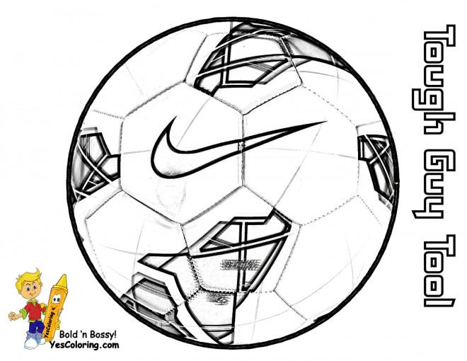 Coloriage Marque de Ballon Soccer dessin gratuit à imprimer