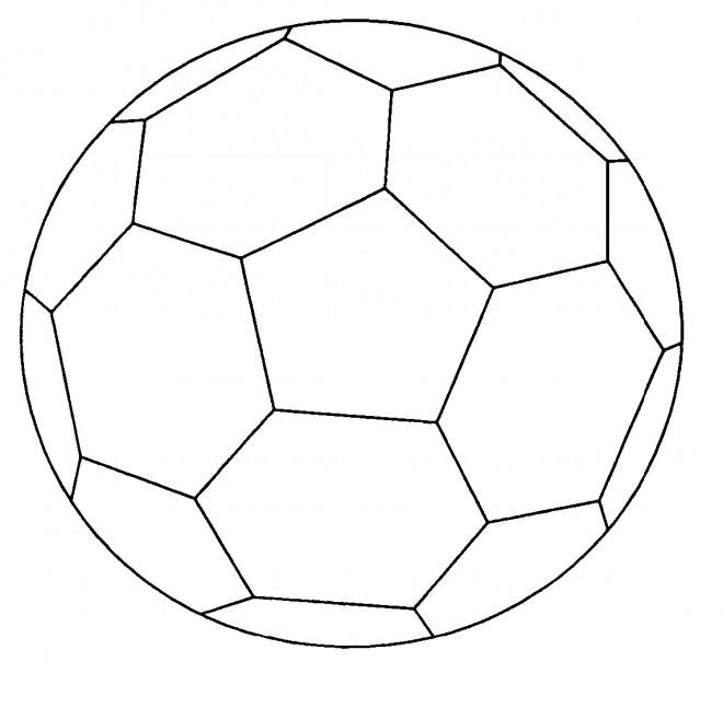 Coloriage Soccer Ballon simplifié dessin gratuit à imprimer