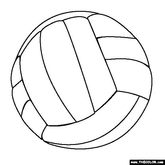 Coloriage Ballon Volleyball facile dessin gratuit à imprimer