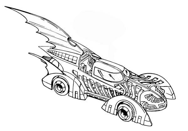 Coloriage Batman Voiture dessin gratuit à imprimer