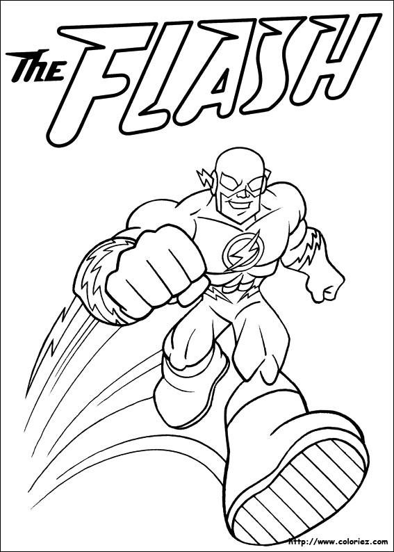 Coloriage Flash Superhéro dessin gratuit à imprimer