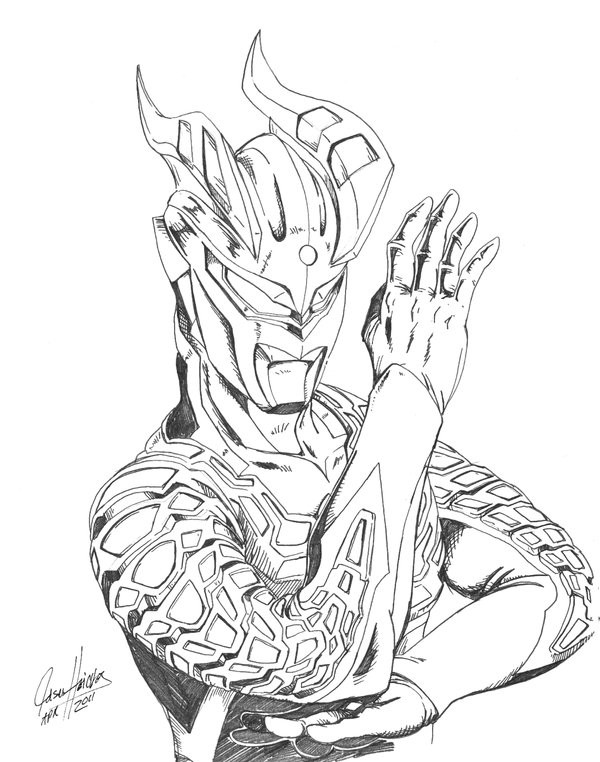 Coloriage Ultraman Monstre dessin gratuit à imprimer
