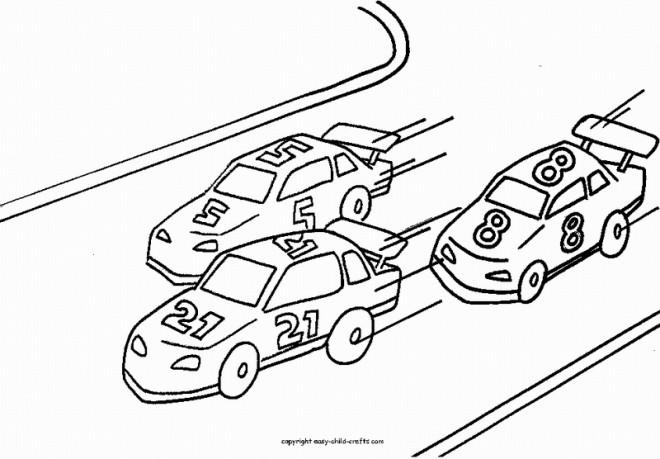 Coloriage course de Voitures dessin gratuit à imprimer