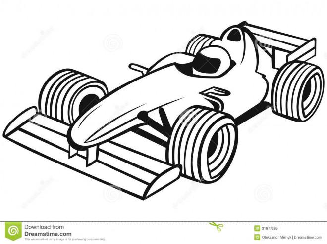 Coloriage Course Formule 1 dessin gratuit à imprimer