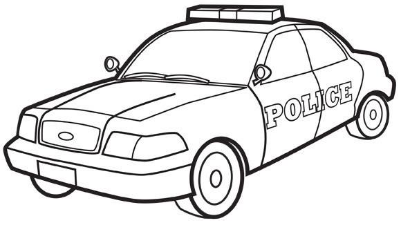 Coloriage Voiture de Police dessin gratuit à imprimer