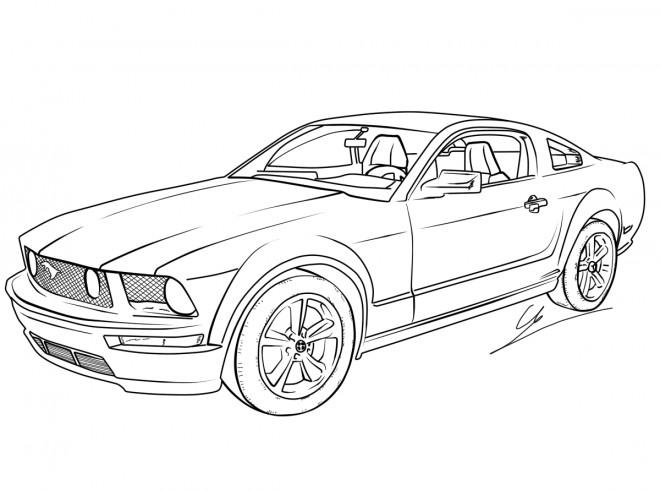 Coloriage Voiture Jaguar de sport dessin gratuit à imprimer
