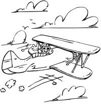 Coloriage Avion Ancien.Coloriage Avion Une Quarantaine De Dessins Imprimer