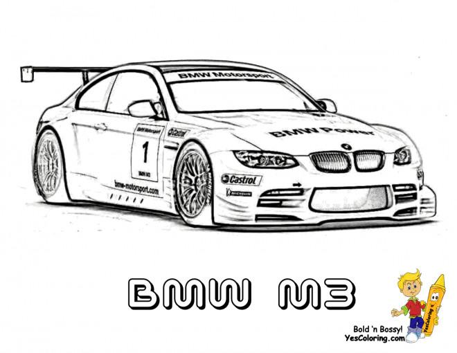 Coloriage BMW M3 dessin gratuit à imprimer