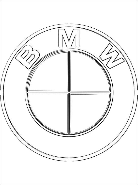 Coloriage Logo de Voitures BMW dessin gratuit à imprimer