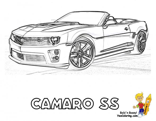 Coloriage Chevrolet Camaro SS dessin gratuit à imprimer