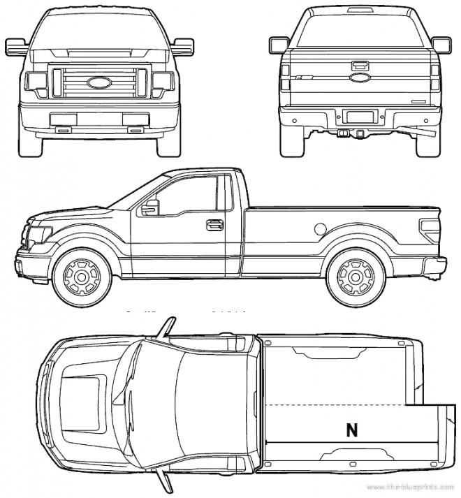 Coloriage Camionnette Ford Pick Up dessin gratuit à imprimer