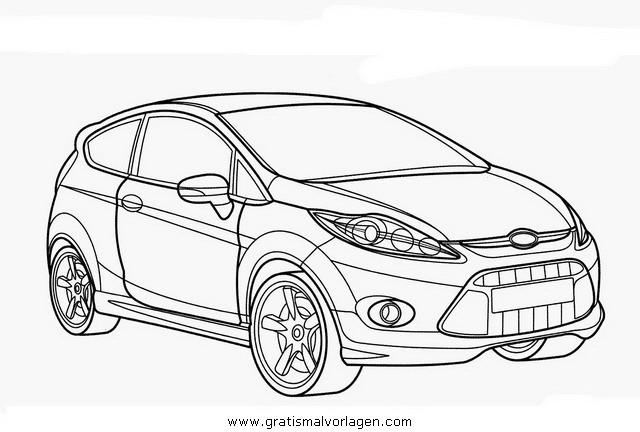 Coloriage Ford Focus RS en Ligne dessin gratuit à imprimer