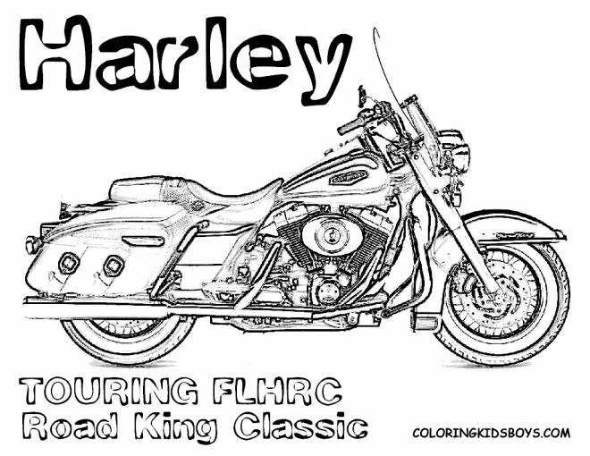 Coloriage Harley Davidson Road King Classic dessin gratuit