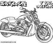 Coloriage Harley Davidson gratuit à imprimer