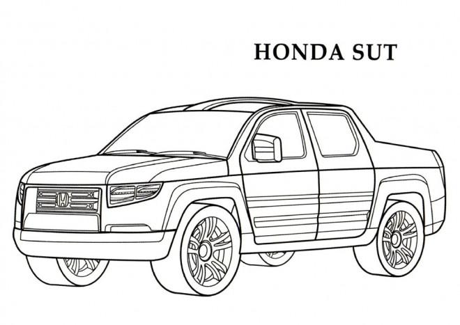 Coloriage Honda Sut Pick Up dessin gratuit à imprimer