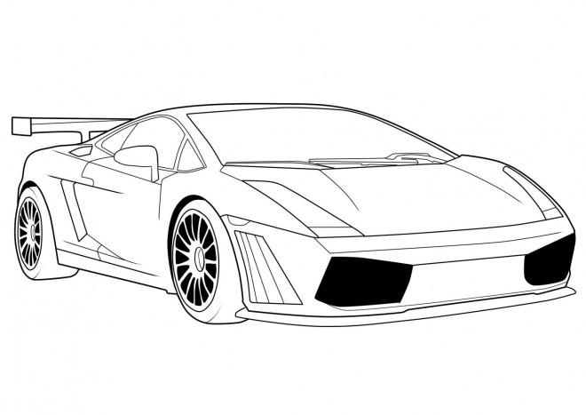 Coloriage Lamborghini Aventador dessin gratuit à imprimer