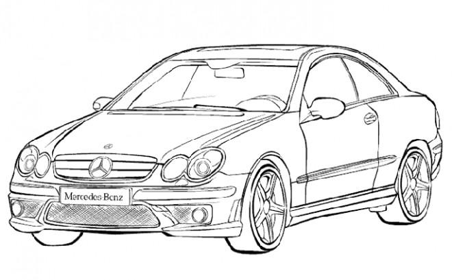 Coloriage Mercedes Classe A dessin gratuit à imprimer