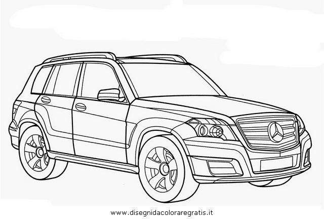 Coloriage Mercedes classe MI dessin gratuit à imprimer
