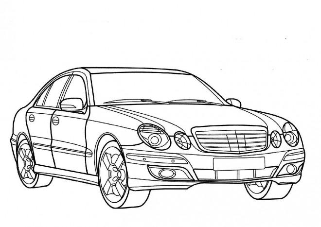 Coloriage Voiture Mercedes dessin gratuit à imprimer
