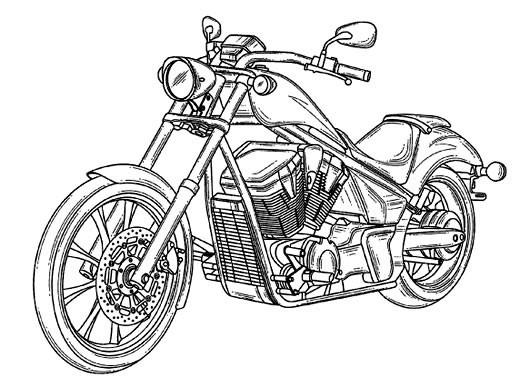 Coloriage Moto Honda pour adulte dessin gratuit à imprimer