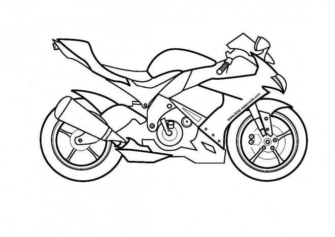 Coloriage Moto Suzuki dessin gratuit à imprimer