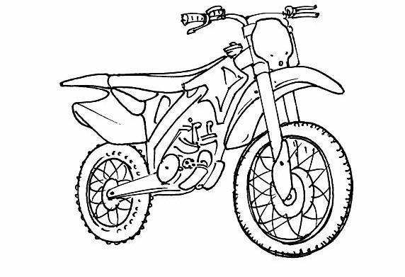 Coloriage Motocross à colorier dessin gratuit à imprimer