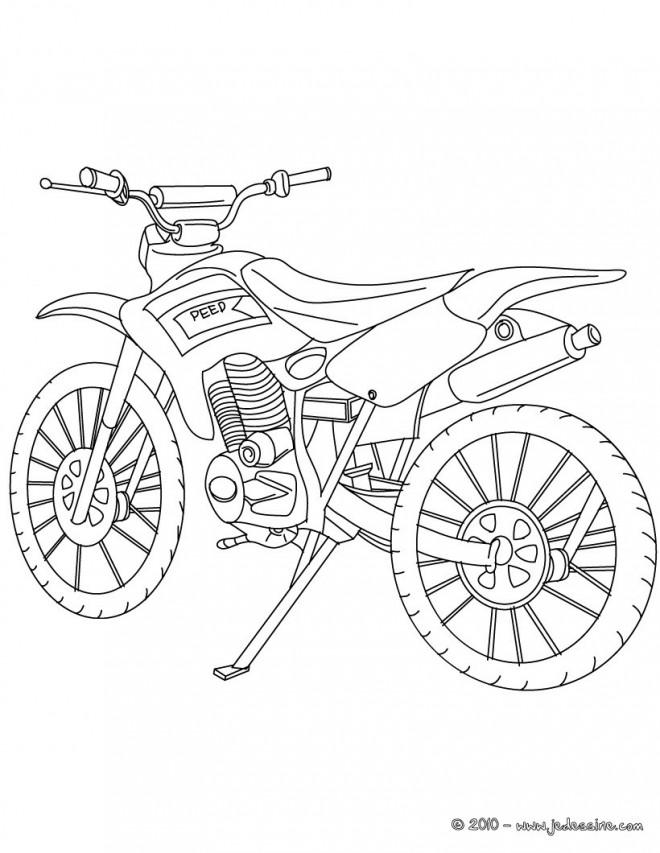 Coloriage Motocross à décorer dessin gratuit à imprimer