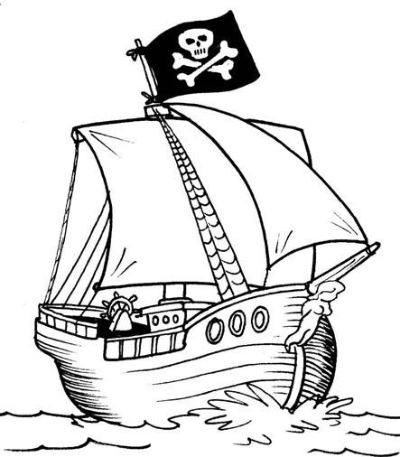 Malvorlagen Gratis Piratenschiff - Kostenlose Malvorlagen