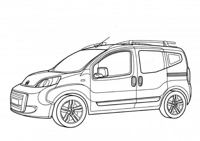 Coloriage Automobile Peugeot française dessin gratuit à