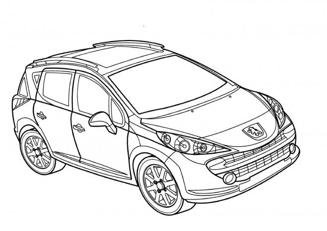 Coloriage Peugeot 4 x 4 dessin gratuit à imprimer