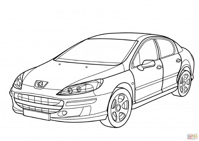 Coloriage Peugeot 407 dessin gratuit à imprimer