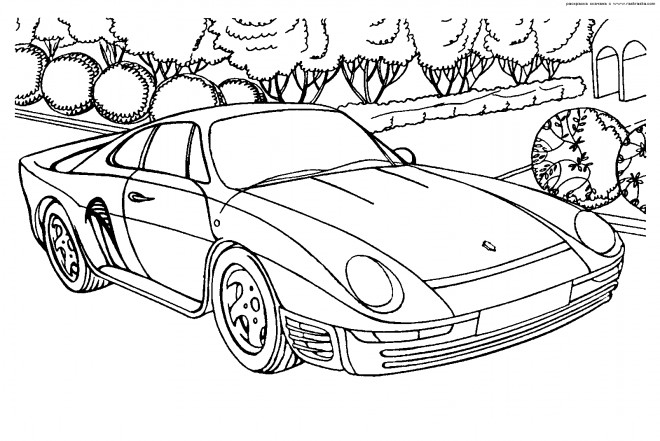 Coloriage Ferrari dessin gratuit à imprimer