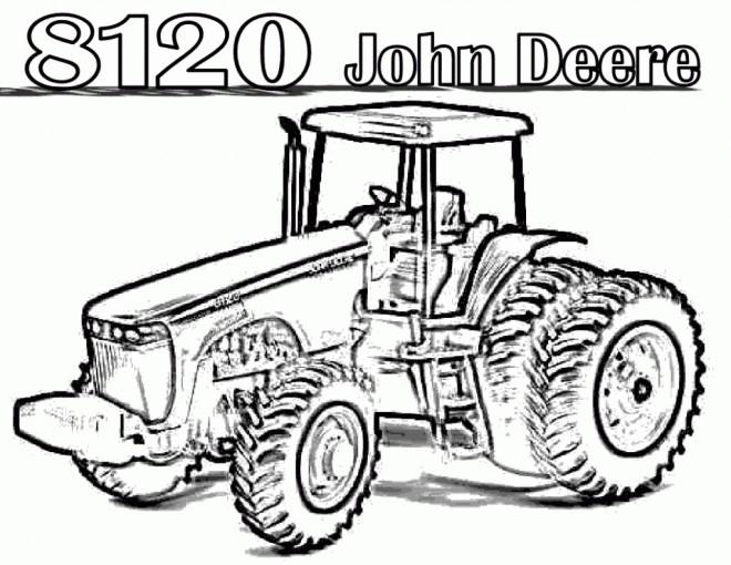coloriage tracteur john deere dessin