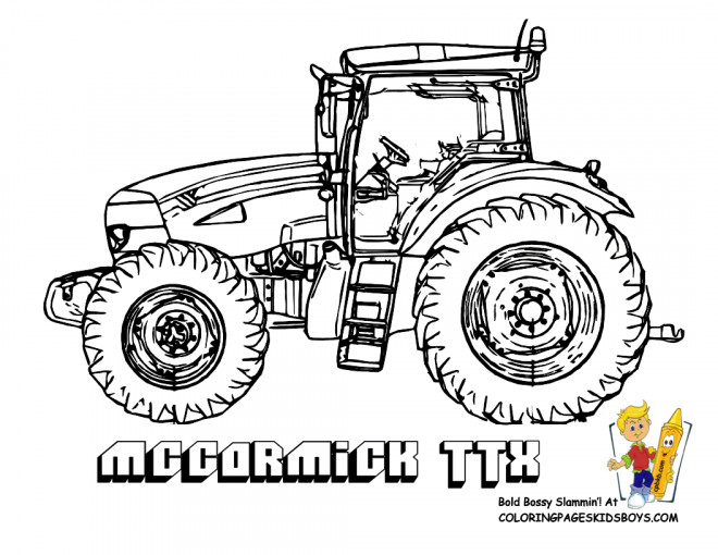Coloriage Tracteur Maccormick dessin gratuit à imprimer