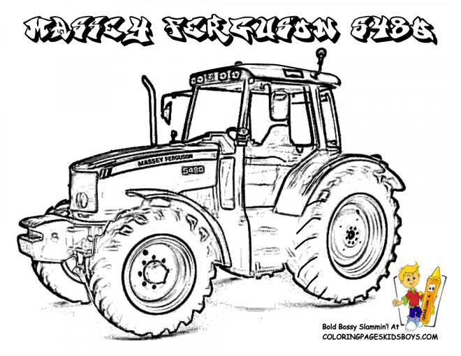 coloriage tracteur massey ferguson
