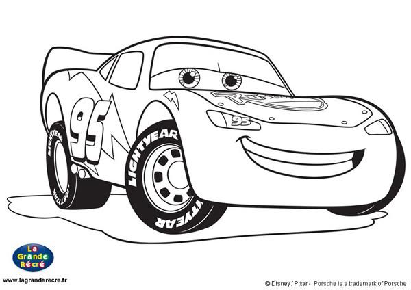 Coloriage Auto Flash Mcqueen dessin gratuit à imprimer