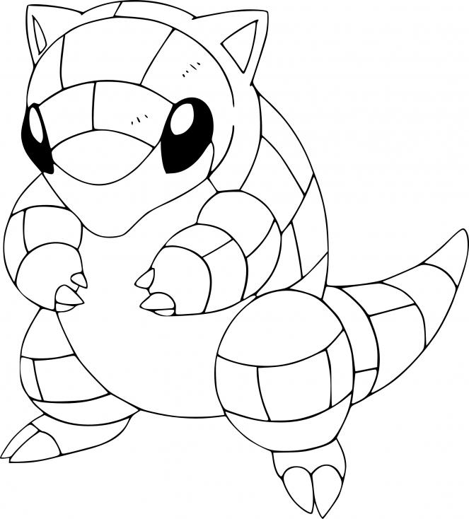 Coloriage Sabelette Pokemon à imprimer
