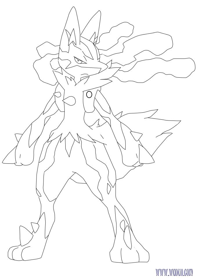 Coloriage Pokemon X Et Y Mega Evolution